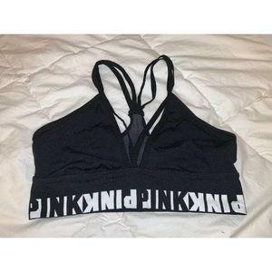 PINK Victoria's Secret  Black Sports Bra